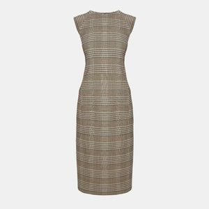 Theory Hadfield Plaid stretch Power dress, NWT